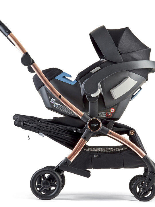 Airo Dusk with Rose Gold Frame Pushchair with Black Newborn Pack image number 7