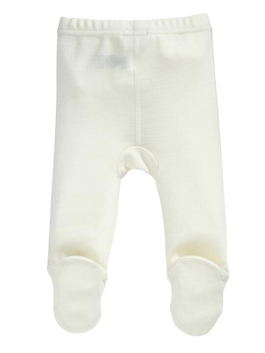 Merino Wool Leggings Cream- New Born image number 2