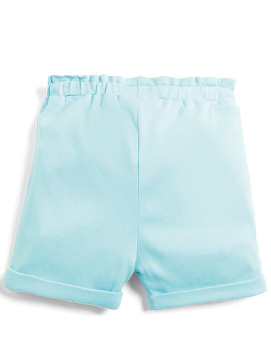 Embroidered Shorts - Aqua image number 2