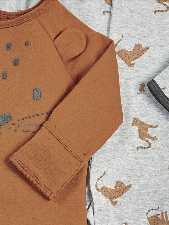 Leopard Sleepsuits - 2 Pack image number 2