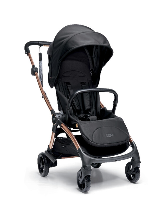 Airo Dusk with Rose Gold Frame Pushchair with Black Newborn Pack image number 2