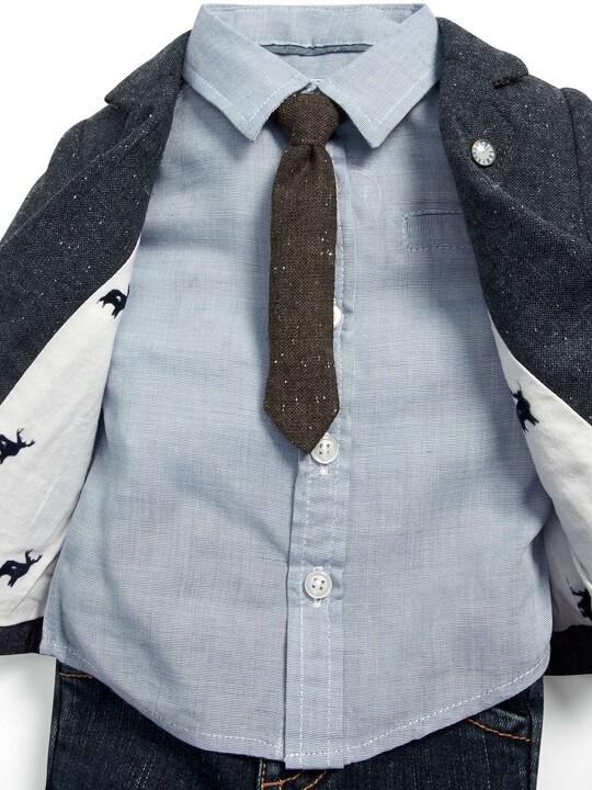 Occasion Tweed Blazer, Shirt, Tie & Jeans Set image number 2