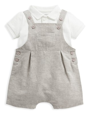 2 Piece Polo & Dungaree Set