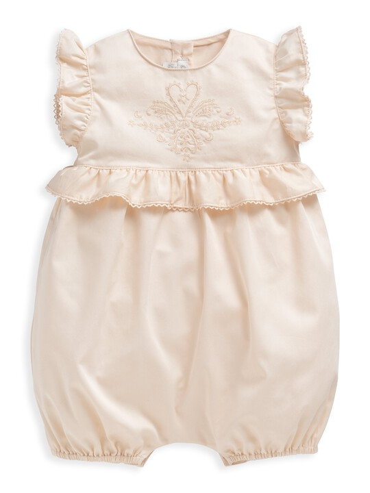 Embroidered Frill Romper image number 1
