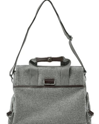 Bowling Style Changing Bag - Woven Grey