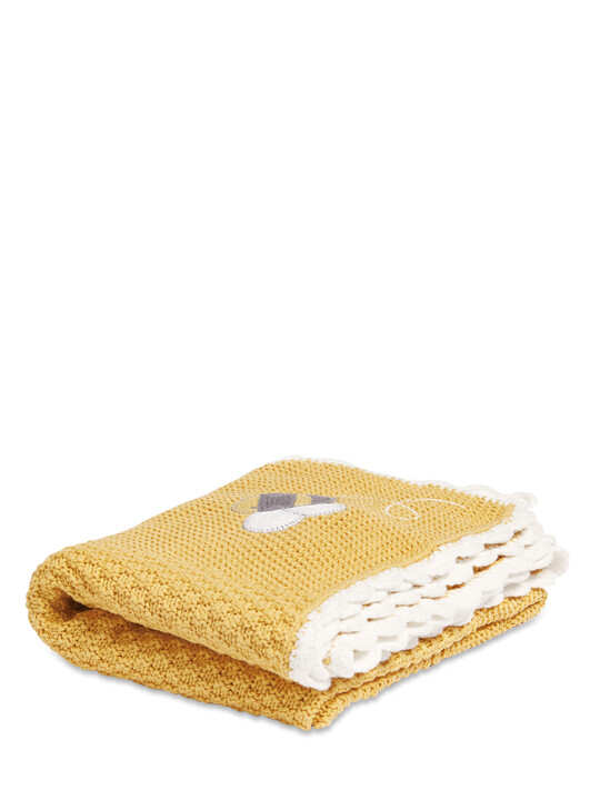 Knitted Blanket(70x90cm) - Bee Happy image number 1
