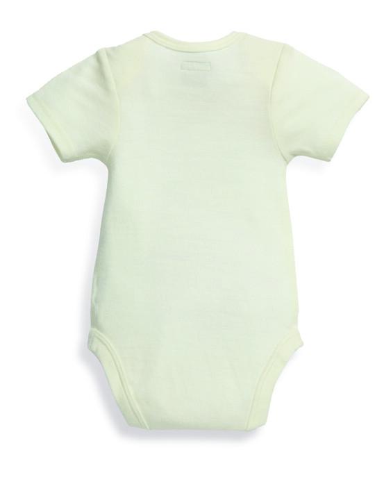 Merino Wool Bodysuit Cream- New Born image number 3