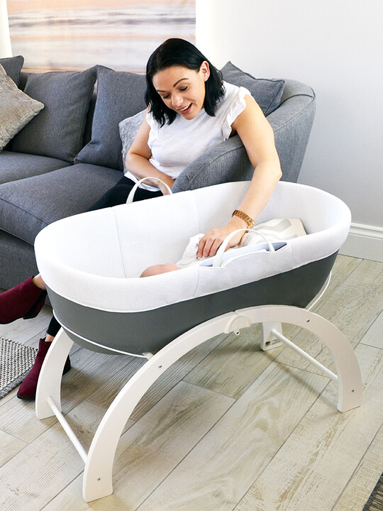 Shnuggle- Dreami Baby Sleeper - Slate Grey Base + 2 In 1 Curve Stand image number 1