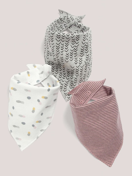3 pack Bandana Bibs Pink- One size image number 1