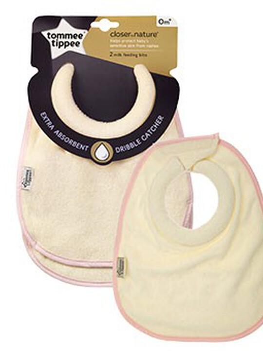 Tommee Tippee Milk Feeding Bib (2 Pack) - Pink image number 1