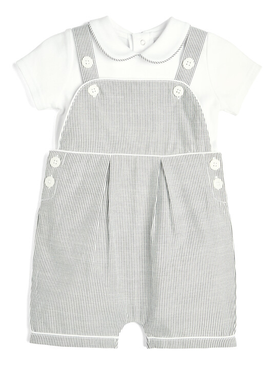 Striped Dungarees and T-Shirt - 2 Piece Set image number 1