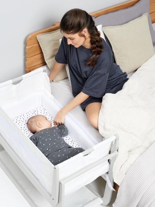 SnuzPod4 Bedside Crib - Haze Grey image number 4