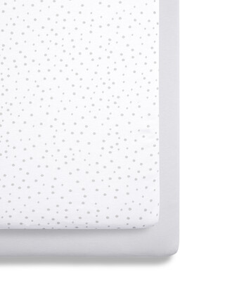 SnuzPod - 2 Pack Crib Fitted Sheets - Grey Spots (N)