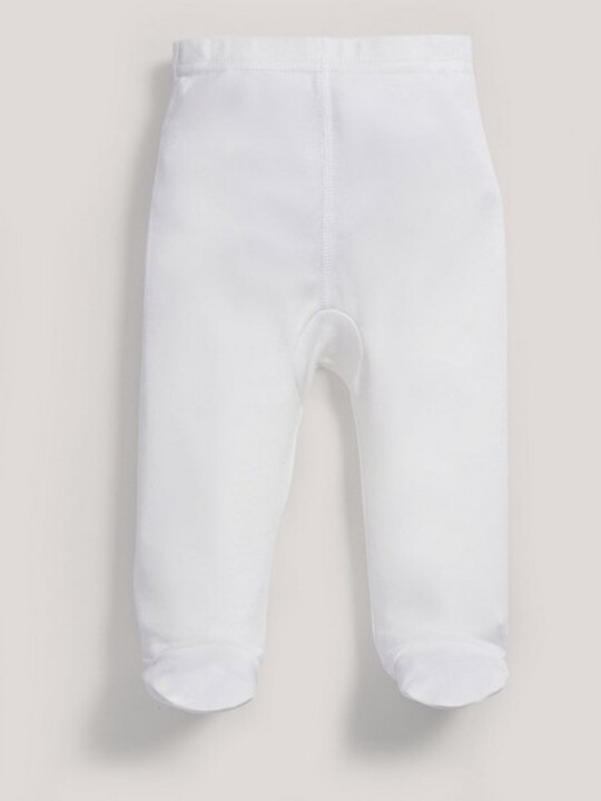 Bamboo Fabric Leggings White- New Born image number 3