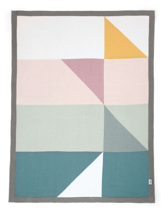 Knitted Blanket - 70 x 90cm - Triangles image number 2