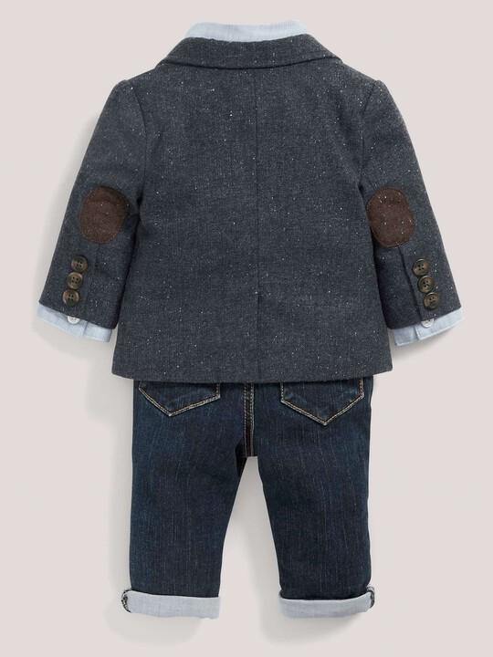 Occasion Tweed Blazer, Shirt, Tie & Jeans Set image number 3
