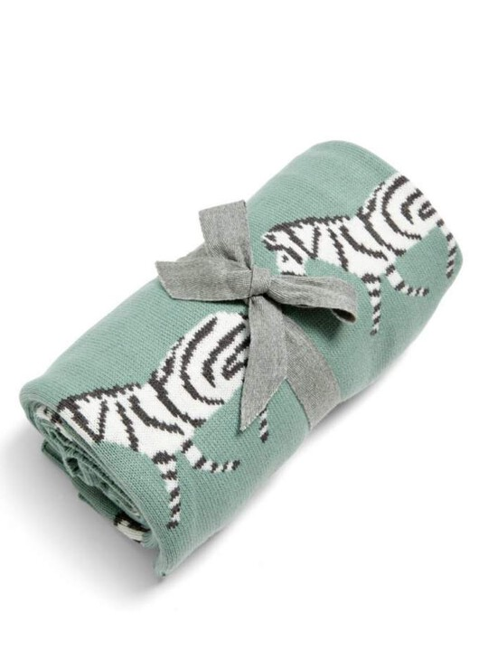 Small Knitted Blanket - Zebra image number 2