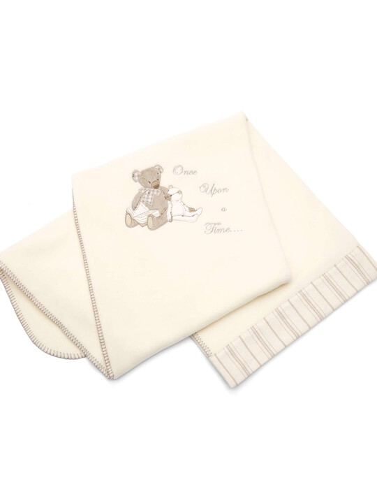 Once Upon A Time - Neutral Large Embroidered Fleece Blanket (L: 160 x W: 120cm) image number 1