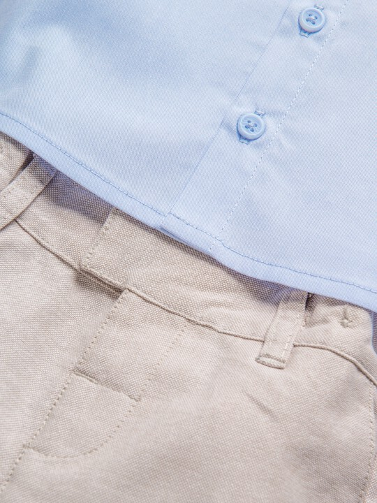 2 Piece Chambray Shirt & Trousers Set image number 5