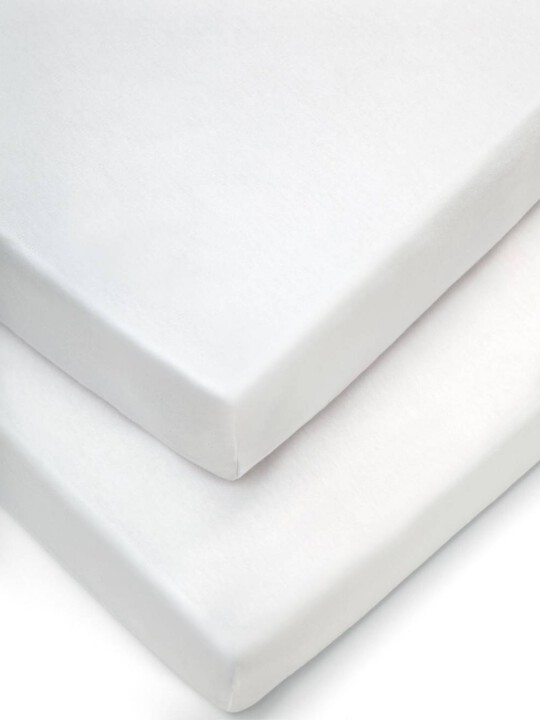 White Fitted Sheets - (Cot) Pack of 2 image number 1