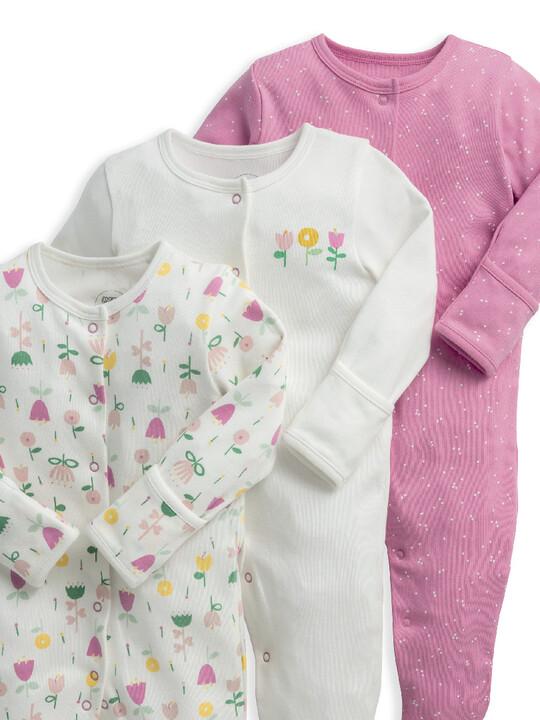 Modern Floral Sleepsuits 3 Pack image number 3