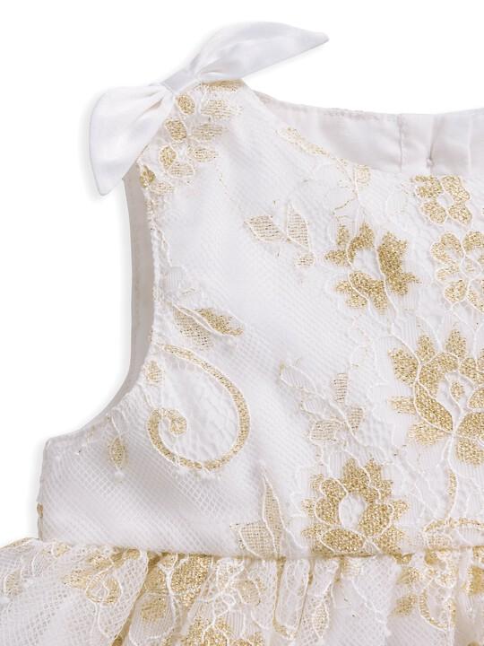 Lace Scalloped Hem Dress image number 3