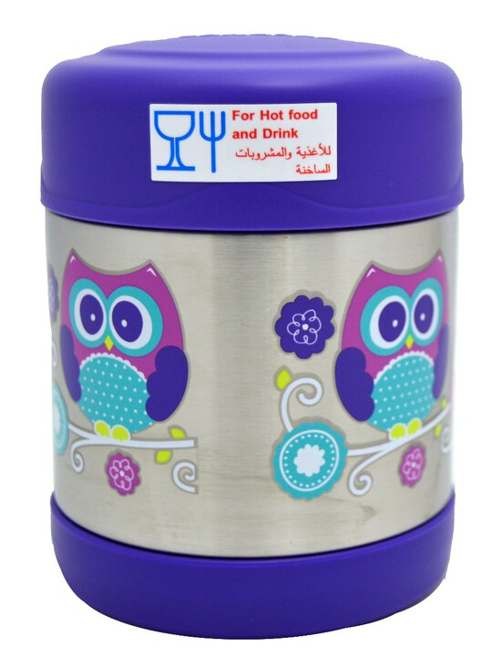 Thermosâ®- Funtainerâ® Stainless Steel Food Jar 290Ml- Owl image number 2
