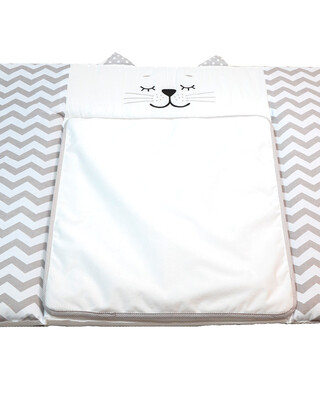 """Veres """"Smiling Animals"""" Grey Diapering Mattress For Chest of Drawers"""