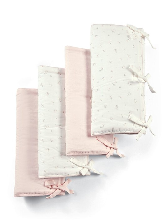 Welcome to the World Floral Cot Bar Covers (Pack of 4) - Pink & Floral Print image number 1