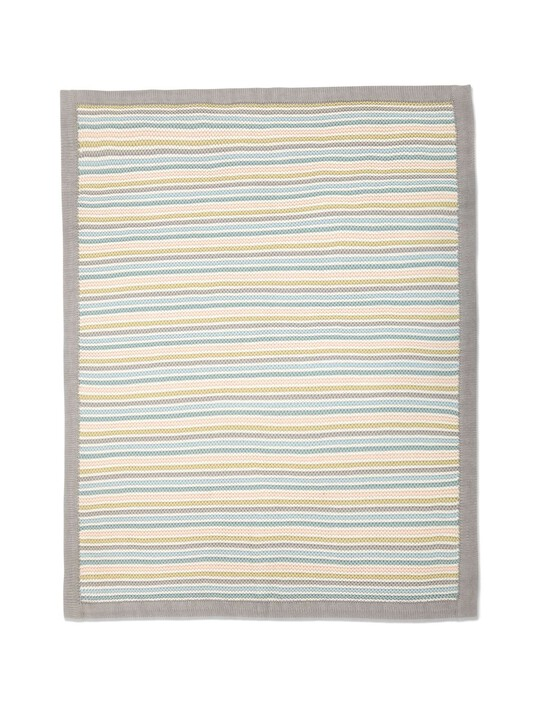 Small Knitted Blanket - Stripe Pastel image number 5