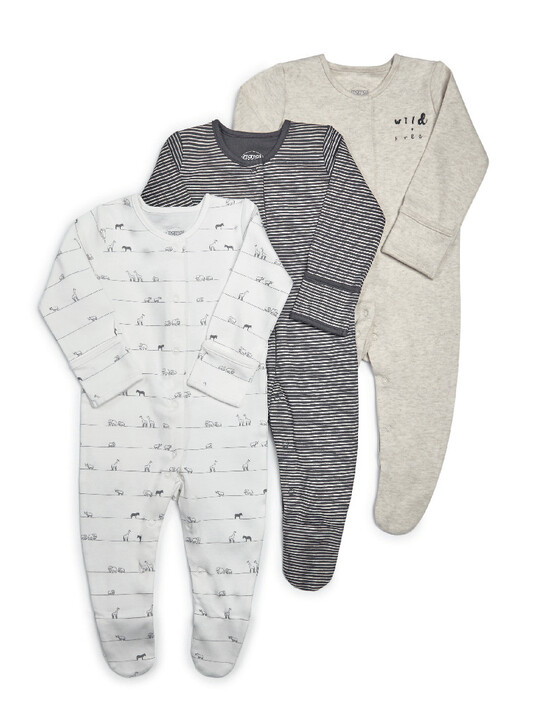 Wild & Free Jersey Sleepsuits - 3 Pack image number 1