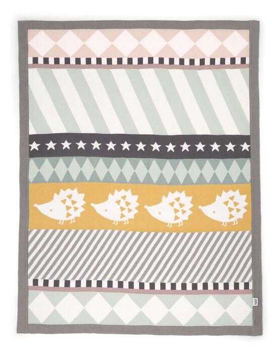 Knitted Blanket - 70 x 90cm - Hedgehog image number 3