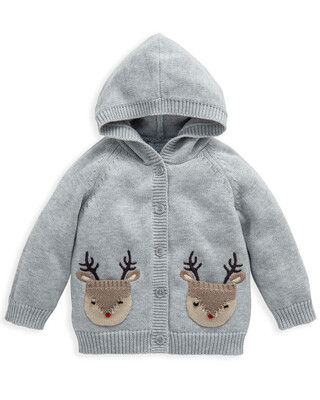Cardigan with Reindeer Pockets