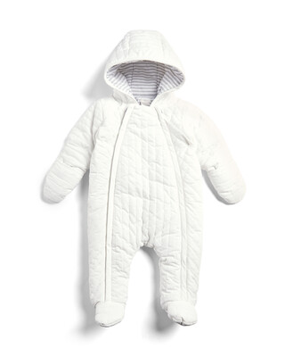 White Quilted Pramsuit