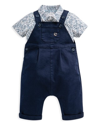 2 Piece Paisley Bodysuit & Dungaree Set