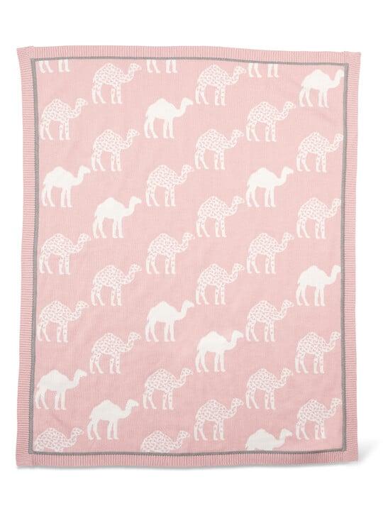 Knitted Blanket (70x90cm) - Pink Camel image number 2