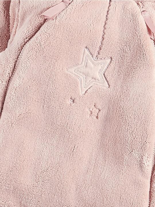 Soft Faux Fur Star Design Pramsuit Pink- 0-3 image number 3