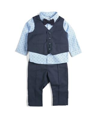 4 Piece Suit Set Navy