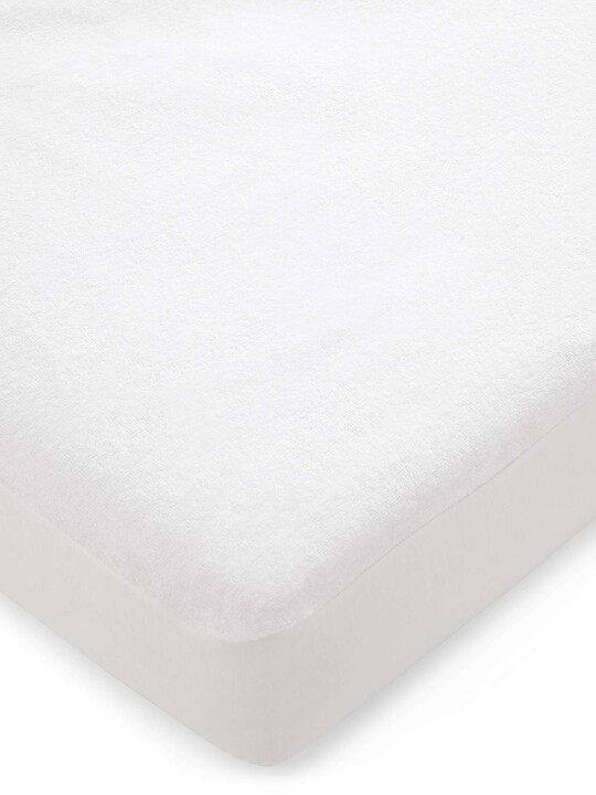Waterproof Terry Towelling Mattress Protector (Cotbed) image number 1