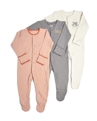 3 Pack of Wild Sleepsuits