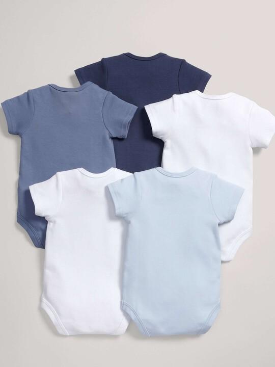 5 pack Mix Short Sleeve Bodysuits Blue- 12-18 months image number 2