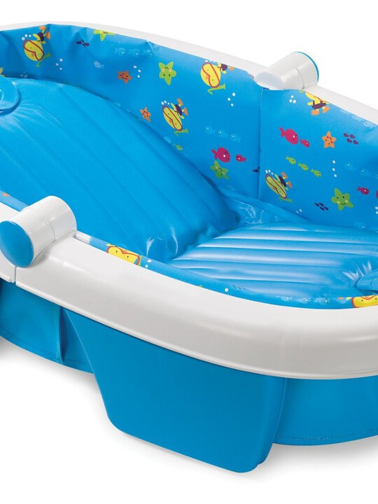 Newborn-to-toddler fold away baby bath -duck diver image number 1