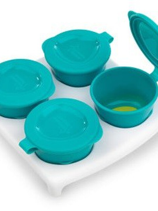 Tommee Tippee Explora Pop up Freezer Pots & Tray - Blue image number 1