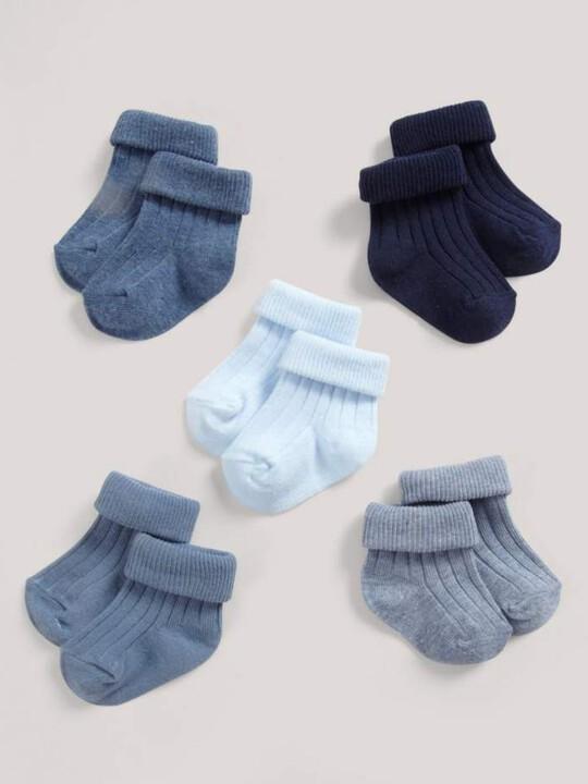 Five Pack of Blue Socks image number 3