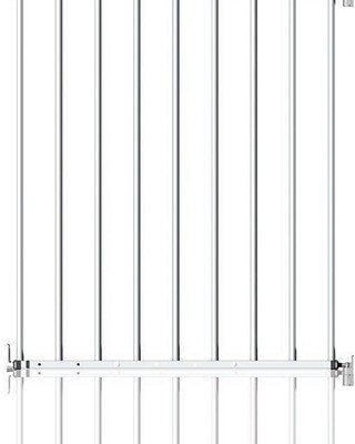 Clippasafe Extendable No Trip Gate, 60-107cm - Metal (White)