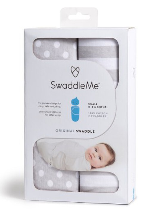 Swaddle Wraps  (pack of 2) - Grey image number 3