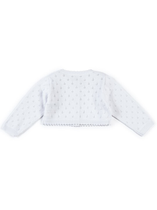 Fine Knit Cardigan - White image number 2