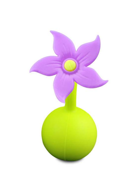 Haakaa Silicone Breast Pump Flower Stopper - Purple image number 1