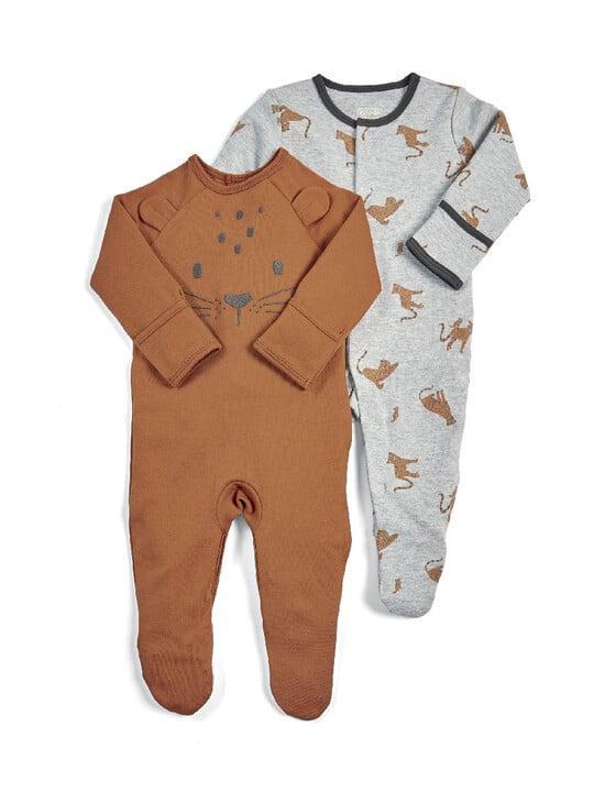 Leopard Sleepsuits - 2 Pack image number 1